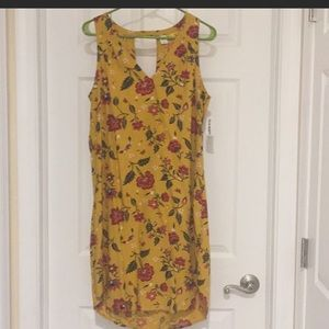 Old Navy Yellow Flora Dress